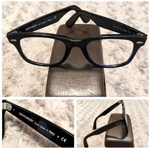 Ray Ban Wayfarer eyeglass paid $169 good condition
